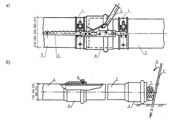 Укладка напорных труб пвх в траншею по бетонным упорам узлы