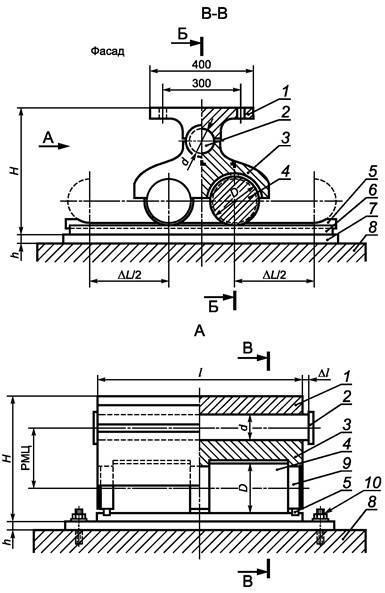 Типы опорных частей моста с чертежами
