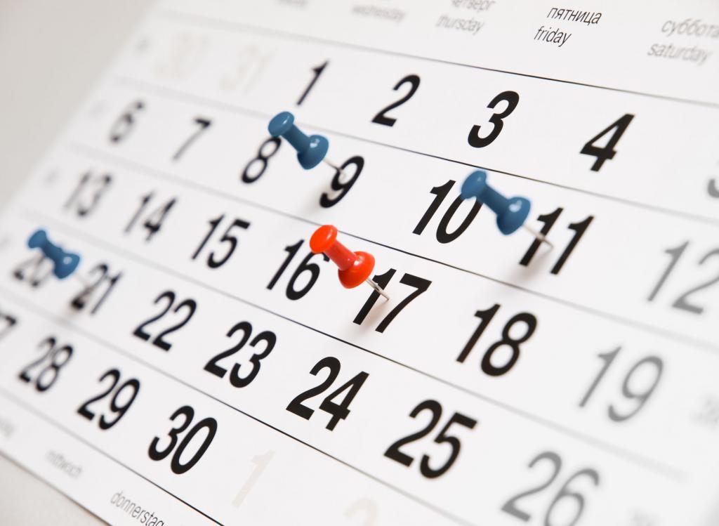 перечисление отпускные календарные дни или рабочие